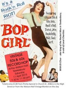 Vintage Record Hop Bop Girl