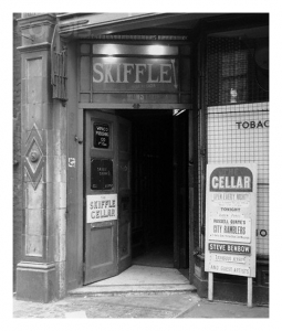 The entrance to the Skiffle Cellar in 1958