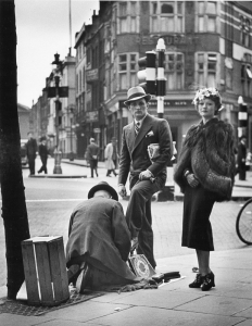 Shoe Shine, Charing Cross Road, London, 1936
