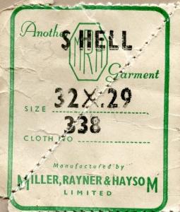 Trouser Label